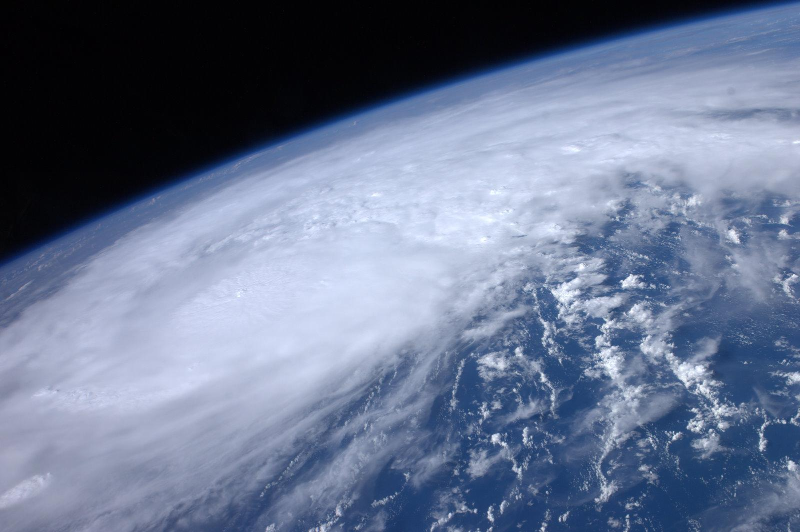 A NASA photo of a hurricane from space.