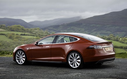A Model S in Wale. This vehicle got a Euro NCAP 5-star safety rating.