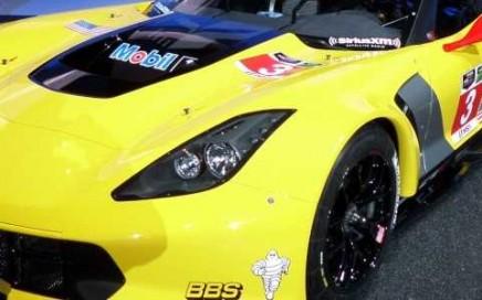 Yellow Chevrolet Corvette sports car at the NAIAS.