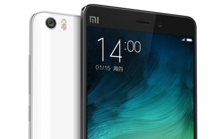 The Xiaomi Mi Note.   Image obtained with thanks from Xiaomi.