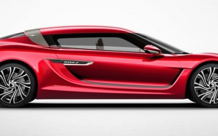 The red nanoFLOWCELL-powered QUANT F EV.