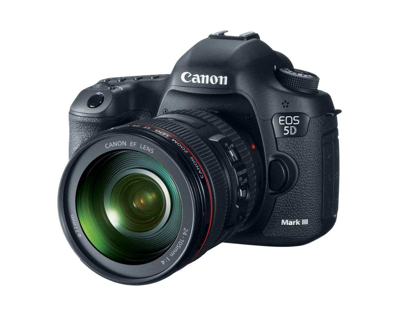 Canon 5D Mark III DSLR camera.