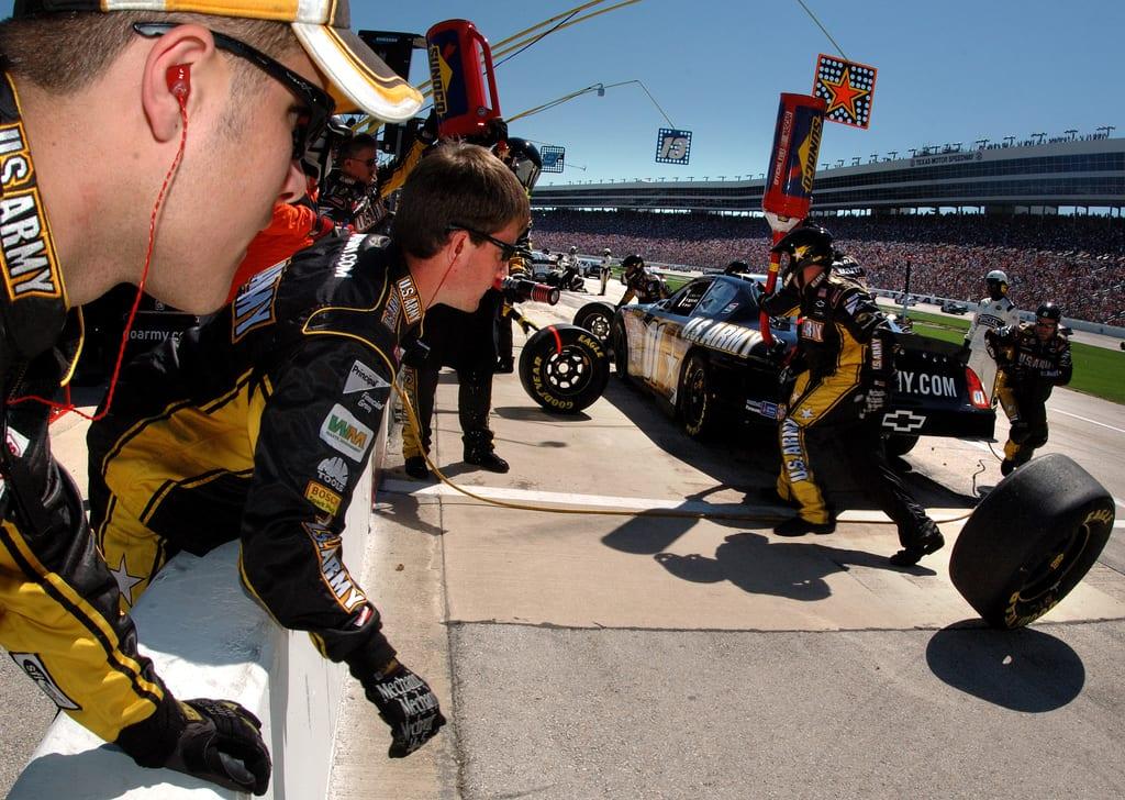 U.S. Army NASCAR technicians.