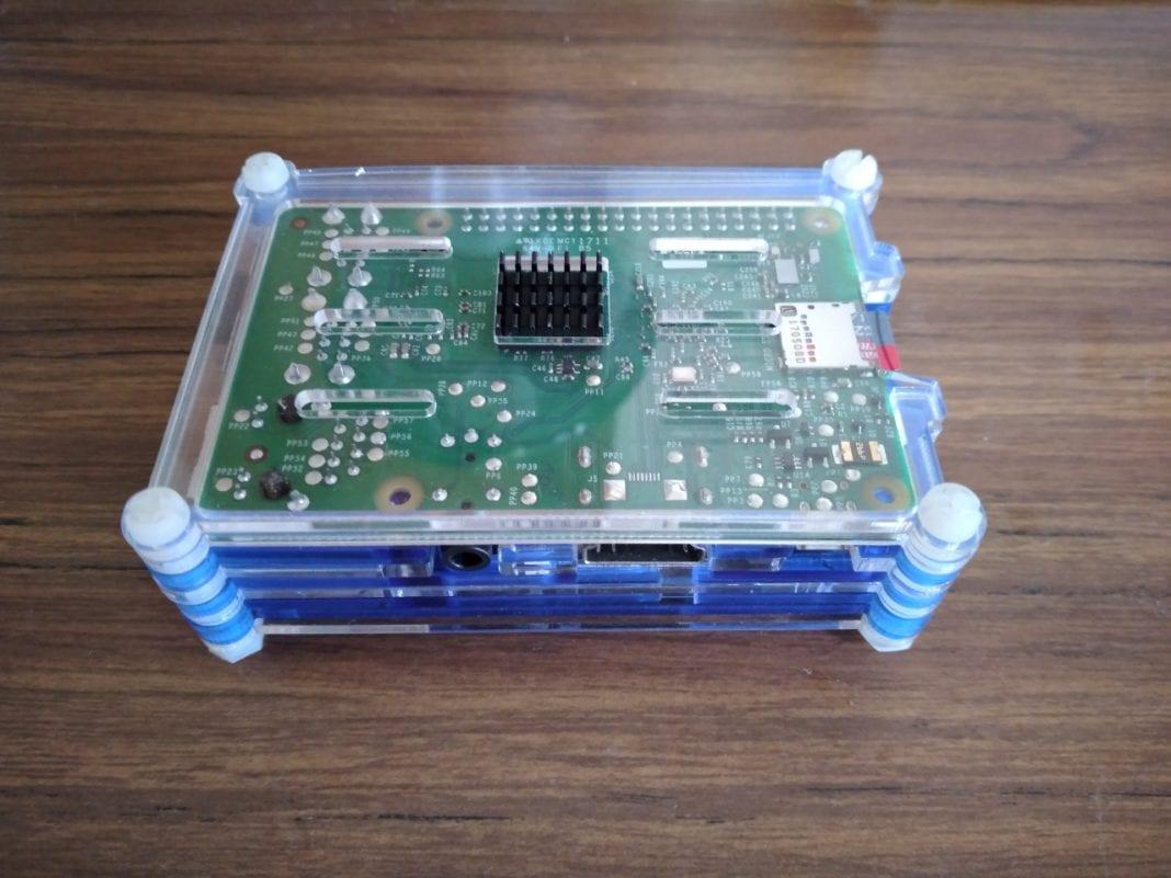 A Raspberry Pi single board computer