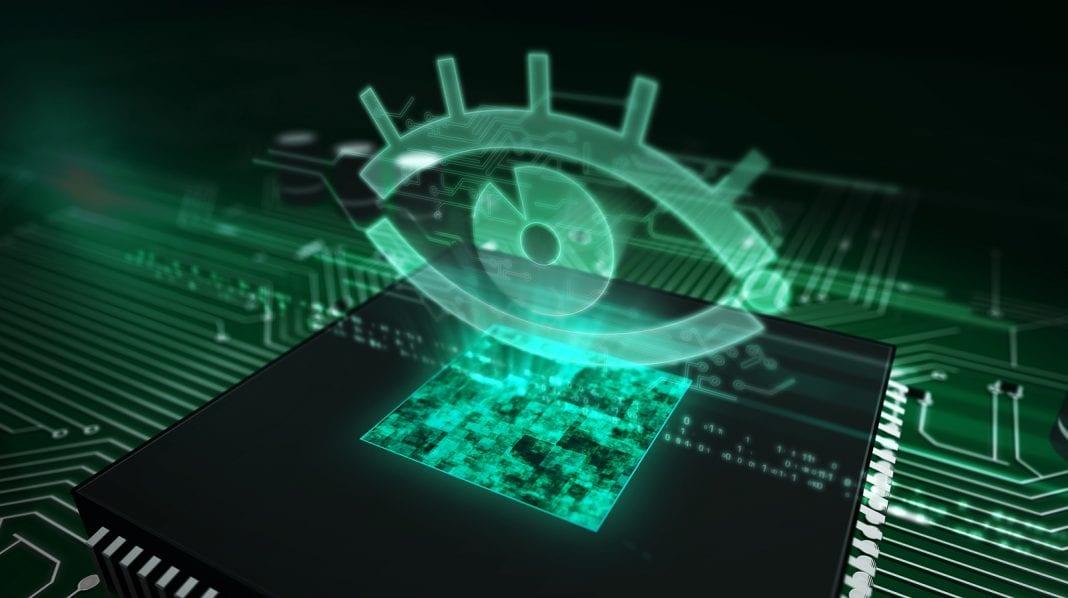 Eye on computer chip